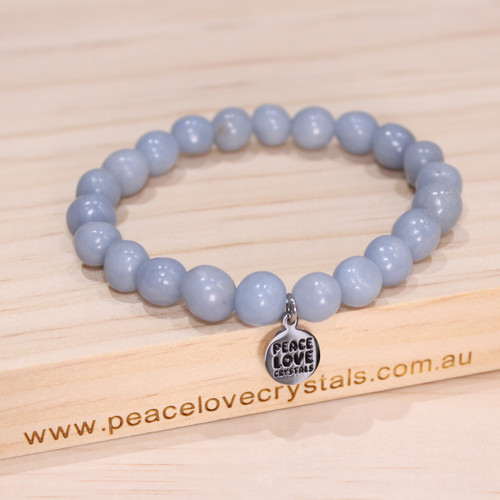 Angelite Pebble Bracelet