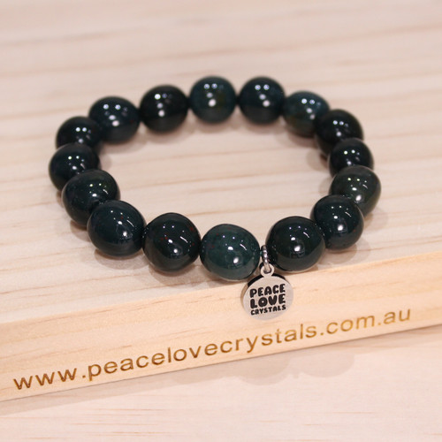 Bloodstone Pebble Bracelet