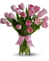 Assorted Tulips Vase