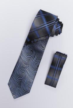 JPJ Tie + Handkerchief INDIGO