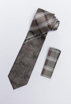 JPJ Tie + Handkerchief TAN