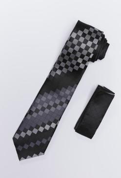 JPJ Tie + Handkerchief BLACK