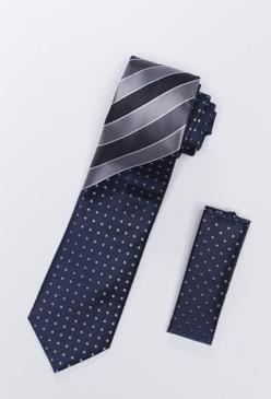 JPJ Tie + Handkerchief BLUE (704)