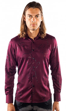 JPJ Ribbon Wine Shirt