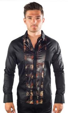 JPJ Viper Stripe Black Shirt