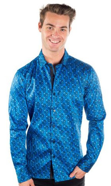 JPJ Festive Men's Royal Button Down Shirt