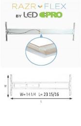 Razr-Flex LED 2X2 Troffer KIT  - (2) 9w Ballast Bypass- Aluminum - 40K or 50K - FROSTED