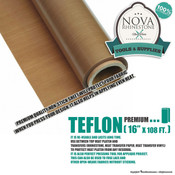 "Teflon Roll - 16""x108ft - Premium Quality Non-Stick Sheet"