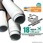 "Siser Multi Purpose Paper - 18""x20"" - Pack of 25 Sheets"