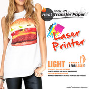 Textile Print - Laser Printer / White or Light Colored Garments