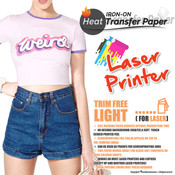 Textile Print - Laser Printer / White or Light Colored Garments - Trim Free