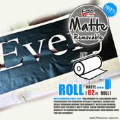 "Matte Removable Vinyl - FDC 4300 - 24"" wide 82 FEET ROLL"