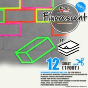 "Fluorescent Gloss Vinyl - FDC 2700 - 12""x24"" Sheet"