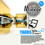 "Mirror Finish Vinyl - FDC 2800 - 24"" wide BY YARD"