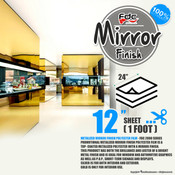 "Mirror Finish Vinyl - FDC 2800 - 12""x24"" Sheet"