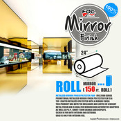 "Mirror Finish Vinyl - FDC 2800 - 24"" wide 150 FEET ROLL"