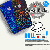 "RTape VinylEfx® Metal Flake Decorative Vinyl - FDC 2824 - 24"" wide 30 FEET ROLL"