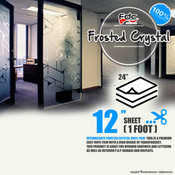 "Frosted Crystal Vinyl - FDC 3804 - 12""x24"" Sheet"