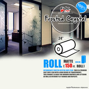"Frosted Crystal Vinyl - FDC 3804 - 24"" wide 150 FEET ROLL"