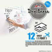 "Dry Erase Vinyl - FDC 4305 - 12"" x 24"" Sheet"