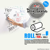 "Dry Erase Vinyl - FDC 4305 - 24"" wide 150 FEET ROLL"