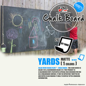 "Chalk Board Vinyl - FDC 4308 - 24"" wide BY YARD"