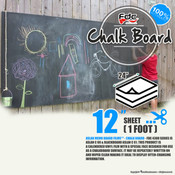 "Chalk Board Vinyl - FDC 4308 - 12""x24"" Sheet"