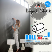 "Liquid Chalk Board Vinyl - FDC 4308 - 24"" wide 164 FEET ROLL"