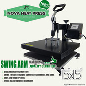 "NOVA 15""x15"" High Pressure SWING AWAY Heat Press"