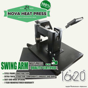 "NOVA 16""x20"" High Pressure SWING AWAY Heat Press"