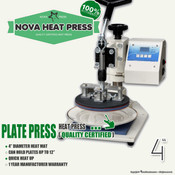 "NOVA PLATE Heat Press Machine - 4"" Diameter"