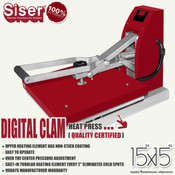 "SISER 15""x15"" DIGITAL CLAM Heat Press"