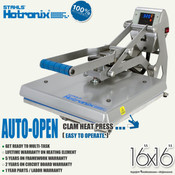 "STAHLS' Hotronix® AUTO OPEN CLAM Heat Press 16""x16"""