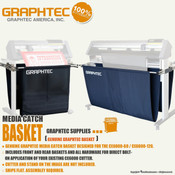 GRAPHTEC CE6000 Series Vinyl Cutter Media Catch Basket