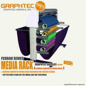 GRAPHTEC FC8600 Series Vinyl Cutter Extra Media Rack