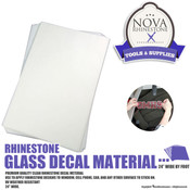 "Rhinestone Glass Decal Material - 24"" wide by Foot"