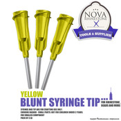 Yellow Blunt Syringe Tip - Pack of 3ea