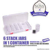 6 Stack Jars in 1 Container