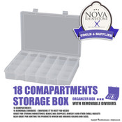 18 Compartments Storage Box with Removable Dividers