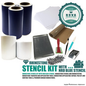 Rhinestone Stencil Kit with NRD Blue Stencil