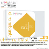 "Sawgrass ChromaBlast Media - 8.5""x11"" / Pack of 100 Sheets"