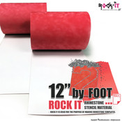 "Rock-It Rhinestone Stencil Flock - 12"" wide by Foot"