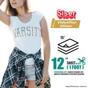 """Siser Videoflex® Glitter - 15"""" x 12"""" Sheet"""