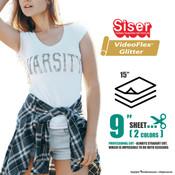 """Siser Videoflex® Glitter - 15"""" x 9"""" Sheet"""