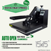 "NOVA 15""x15"" Auto Open Heat Press"