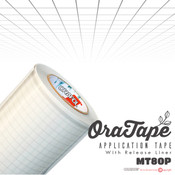 Oracal ORATAPE - MT80P - Clear Medium Tack Application on Liner