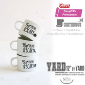 "Siser EasyPSV - Permanent Adhesive Vinyl - 12"" wide BY YARD"