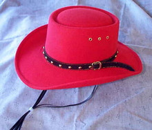 Hat, gambler-style red
