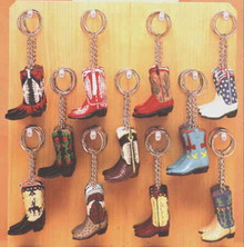 Key ring cowboy boot
