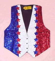Vest Sequined Star Row-sizes S-XL